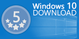 5 stars Award on Windows 10 Download