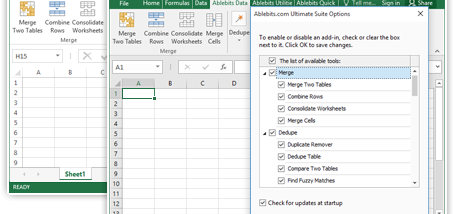 Ultimate Suite for Excel screenshot