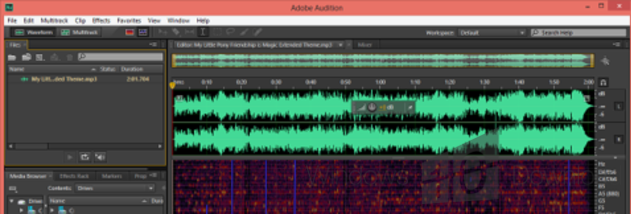 Full Adobe Audition screenshot