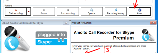 Full Amolto Call Recorder for Skype screenshot