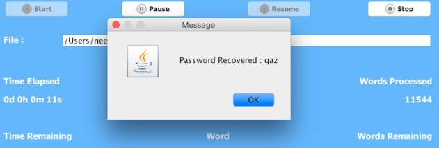 Appnimi Zip Password Unlocker screenshot