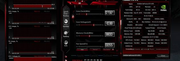 ASUS GPU Tweak screenshot