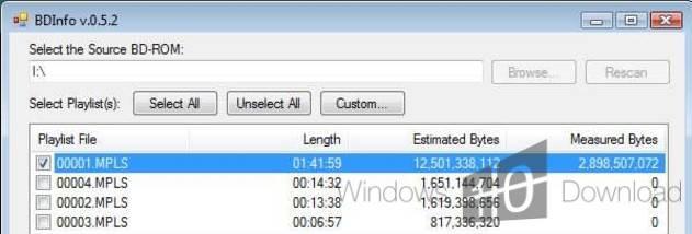 BDInfo - Windows 10 Download