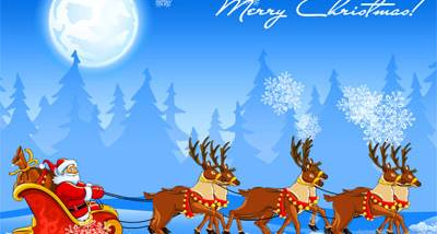 Christmas Sleigh Screensaver screenshot