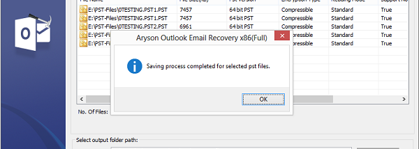 Deleted Outlook Email Recovery screenshot