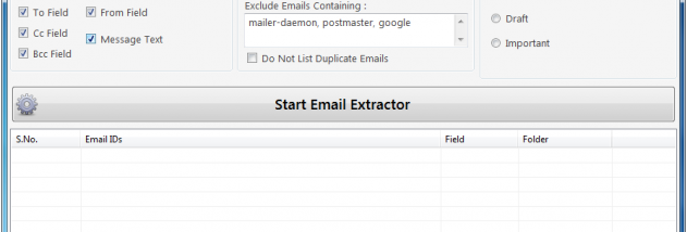 Email Address Extractor for Gmail screenshot