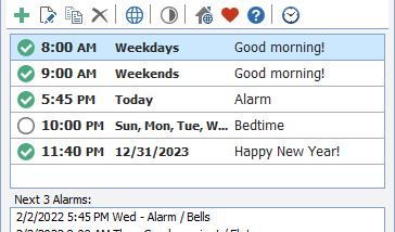 Free Alarm Clock Portable Screenshot
