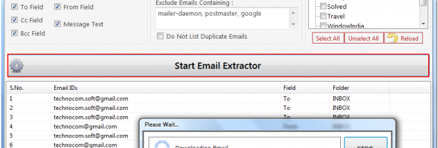 Email Address Grabber for Gmail screenshot