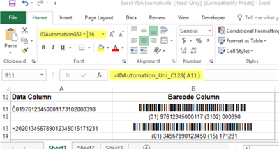GS1-128 Barcode Font Suite screenshot