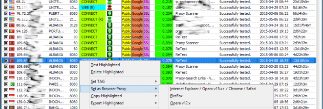 GSA Proxy Scraper screenshot