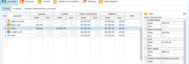 Home Bookkeeping screenshot