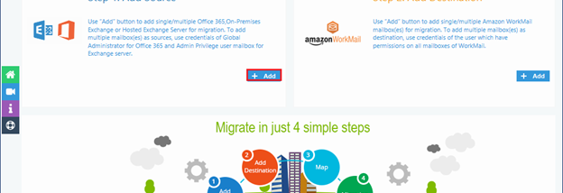 Kernel Office 365 to Amazon WorkMail screenshot