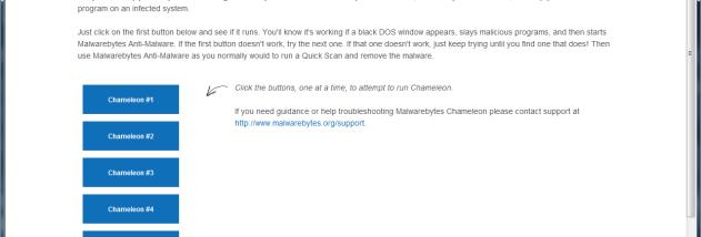 Malwarebytes Chameleon - Windows 10 Download