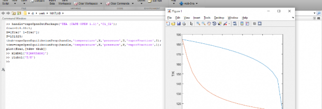 CAPE-OPEN Thermo Import for Matlab screenshot