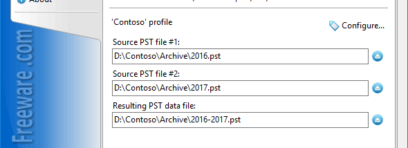 Merge PST Files for Outlook screenshot