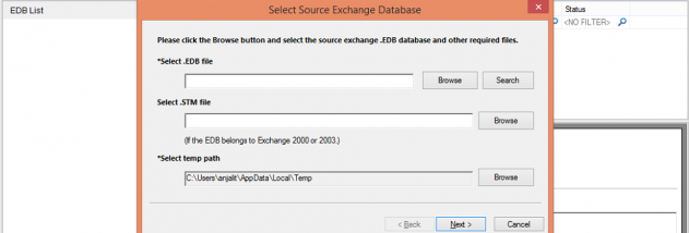 Microsoft Exchange Recovery screenshot