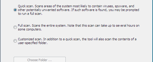 Microsoft Safety Scanner x64 screenshot