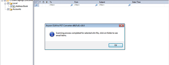 OLM to PST Converter screenshot