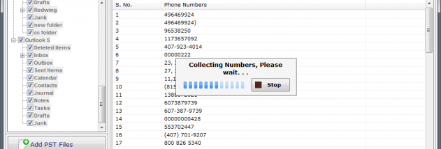 Outlook Mobile,Phone Number Extractor screenshot