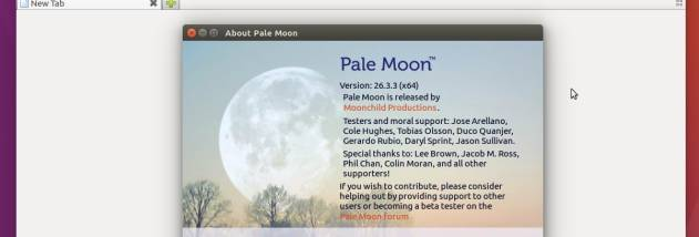Pale Moon screenshot