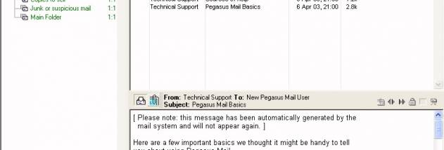 Pegasus Mail screenshot