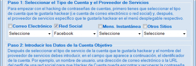 Programa Para Hackear Facebook screenshot
