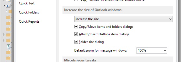 ReliefJet Quicks for Outlook screenshot