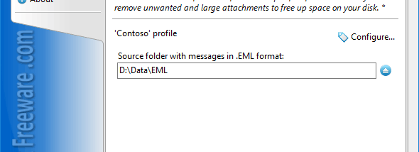 Remove Attachments from EML Files screenshot