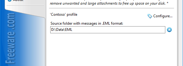 Remove Attachments from EML for Outlook screenshot