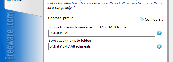 Save Attachments from EML Files screenshot