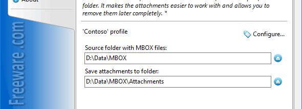 Save Attachments from MBOX Files screenshot