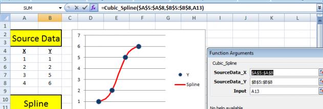SRS1 Cubic Spline for Excel - Windows 10 Download