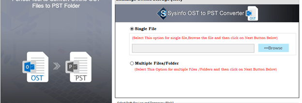 SysInfo OST to PST Converter screenshot