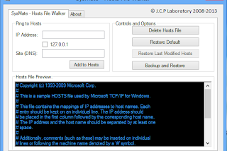 SysMate - Hosts File Walker screenshot