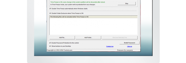 toolwiz time freeze windows 10