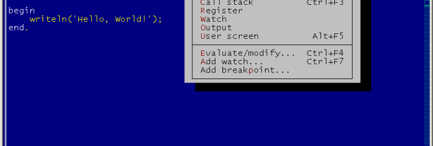 Turbo Pascal screenshot