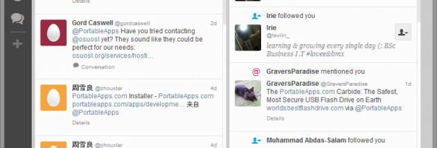 TweetDeck Portable screenshot