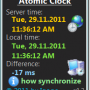 Windows 10 - Atomic Clock 1.7 screenshot