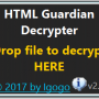 Windows 10 - HTML Guardian Decrypter 2.7 screenshot