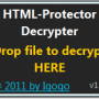 Windows 10 - HTML-Protector Decrypter 1.1 screenshot