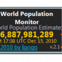 Windows 10 - World Population Monitor 3.5 screenshot